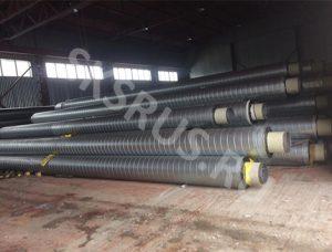 Трубы 328х8 в ППУ-ОЦ в закрытом складе готовой продукции