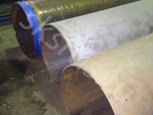 Пескаструйная обработка труь для изоляции типа ВУС и УС